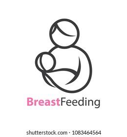 Simple Mother Breastfeeding Logo