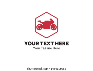 simple motorcycle logo creative design in flat style with color . emotorbike logo creative design for identity and club