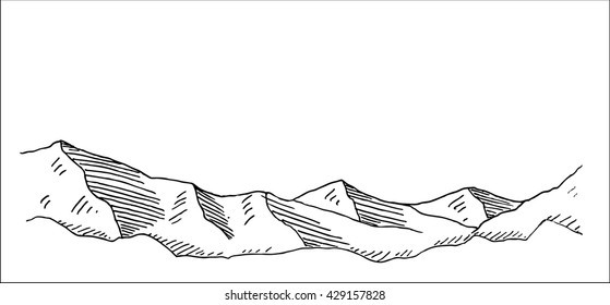 Simple mountain landscape and scenery vector illustration for extreme climbing sport, adventure travel  and  tourism design