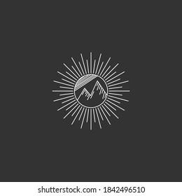 simple mountain line art design inspiration