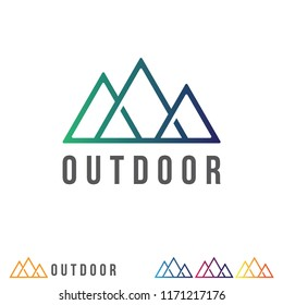 Simple mountain logo design. Negative space logo.