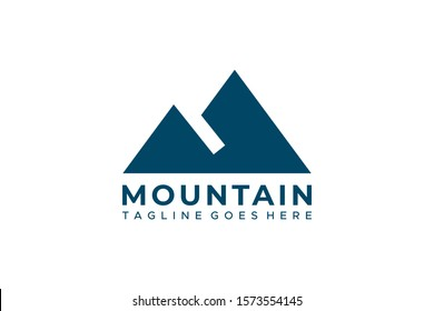 Simple Mountain Logo Vector Design Template Element isolated on white background