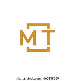 Simple MT initial Logo designs template vector illustration