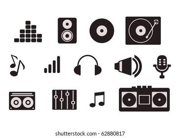 simple music icon set