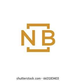 Simple NB initial Logo designs template vector illustration