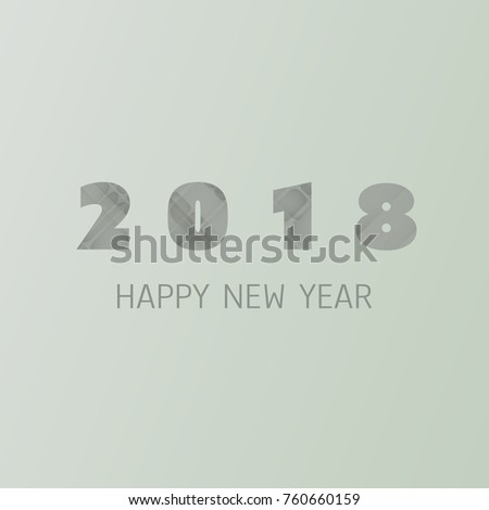 simple new year card banner or background design template 2018