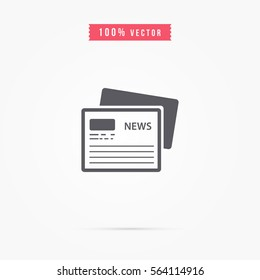 simple newspaper icon design