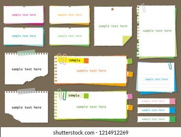 Simple note set