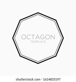 simple octagon vector design template . octagon logo template . blank octagon badge . blank octagon vector . craft logo design template