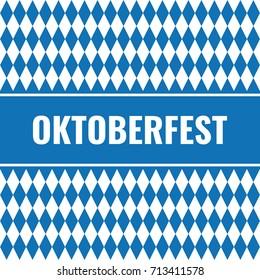 simple oktoberfest card with rhombus