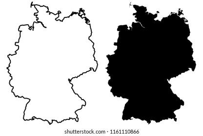 Deutschland Karte Kontur Stock Vectors Images Vector Art
