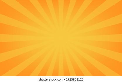 Simple orange sunshine background illustration