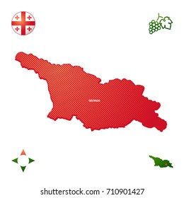 simple outline map of Georgia
