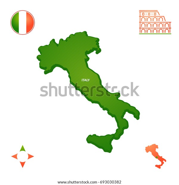 Simple Outline Map Of Italy.Simple Outline Map Italy Stock Vector Royalty Free 693030382