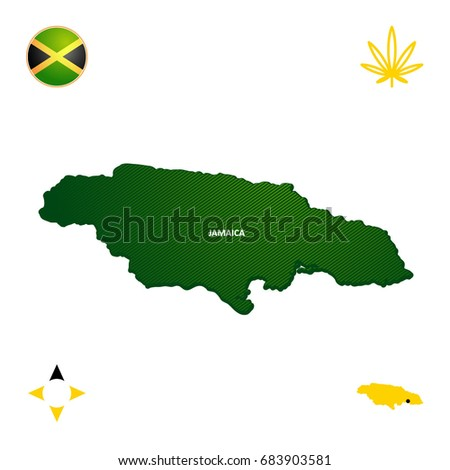 Simple Outline Map Jamaica Stock Vector (Royalty Free) 683903581 ...