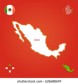 simple outline map of mexico