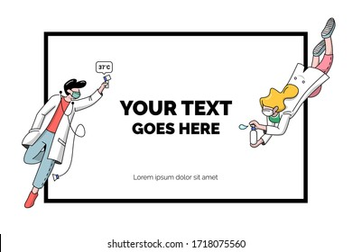 Simple outlined illustration for medical presentation