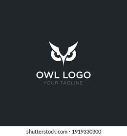 Simple Owl Head Logo Design Template