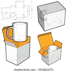 Simple Packaging Mug Box and Die-cut Pattern. The .eps file is full scale and fully functional. Prepared for real cardboard production.