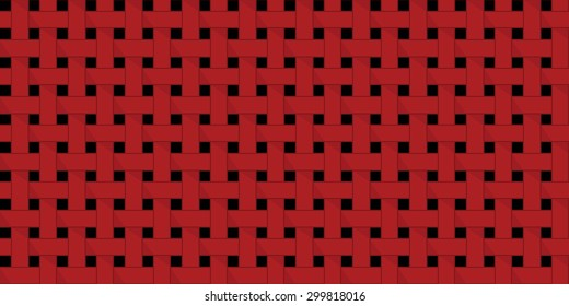 Simple pattern geometrical ornament. Weave pattern. Vector illustration.