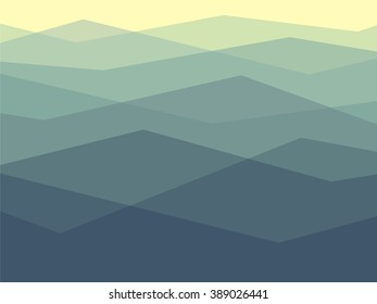 Simple pattern of mountains in outlines.