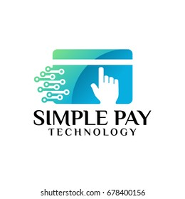 Simple Pay Technology Logo Vector illustration
