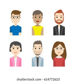 simple people avatar business and carrier character