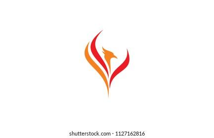 simple phoenix logo icon vector