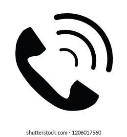 simple phone icon, vector illustration