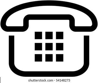 Simple phone icon - vector illustration