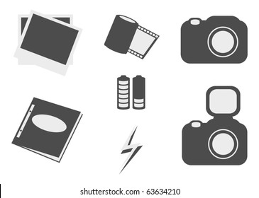 simple photo icon set