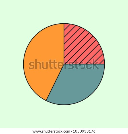 Simple Pie Chart Banking Finance Icon Stock Vector Royalty Free