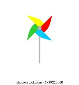 Simple Pinwheel Icon Vector Design