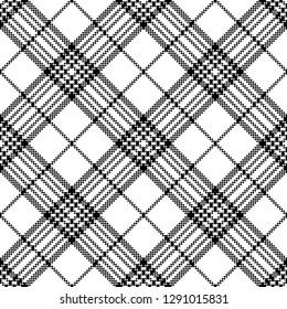 Simple pixel check black white seamless pattern. Vector illustration.