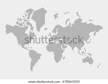 simple polygonal world map vector illustration stock vector royalty