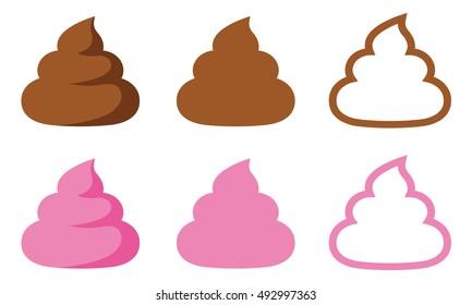 simple poop / Brown and Pink