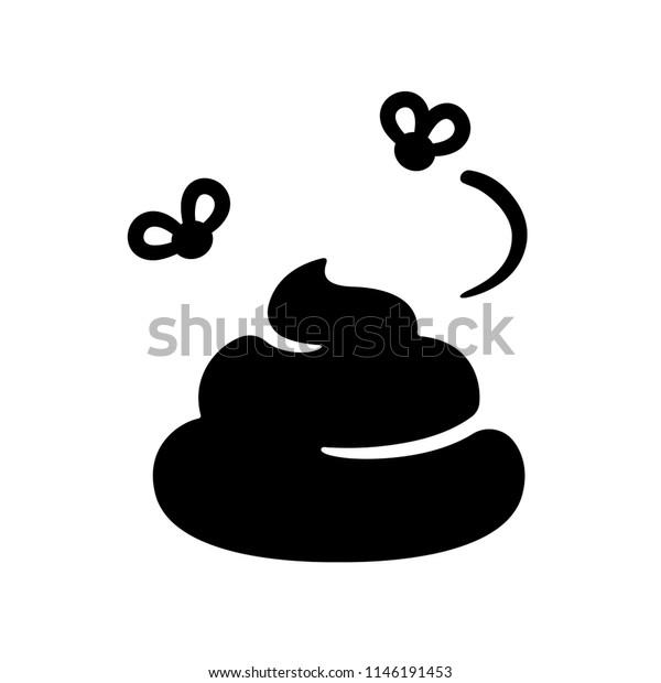 簡単なポップイラストハエの山白黒のベクター画像アイコン