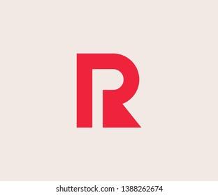 Simple PR Minimalist Initial / Letter RP modern logo design
