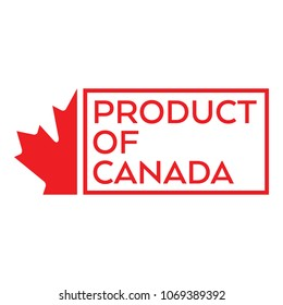 A simple product of Canada stamp with half of a vector maple leaf on the left side.