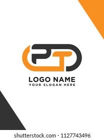 Simple PT initial Logo design template vector illustration
