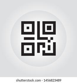 Simple QR code. Vector QR code icon. Eps 10 vector illustration.