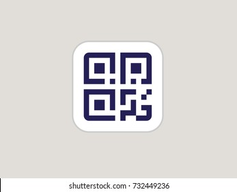 Simple QR code. Vector QR code icon
