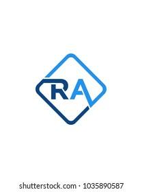 Simple RA initial Logo design template vector illustration