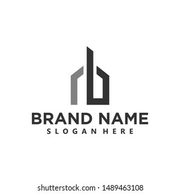 simple realty home logo design