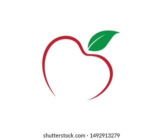 Simple Red Apple Logo Concept