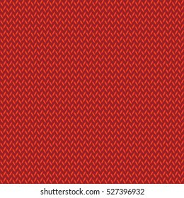 Simple red knitted seamless pattern. Classic Christmas red knitted texture