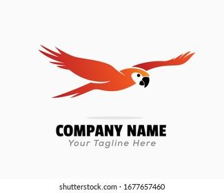 einfache rote Papageien mit hoher Logo-Design-Inspiration