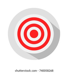 Simple red and white circular target icon