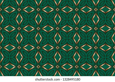 Simple regular background. Abstract repeat backdrop. Design for decor, prints, textile, furniture, cloth, digital Modern solution for finishing the rooms with metal mosaics. Vector illustration