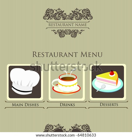 simple restaurant menu design stock vector royalty free 64810633